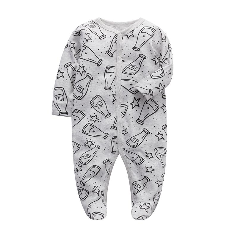 Baby Boys Ropa Newborn Sleeper Infantil Monga de manga larga 3 6 9 12 meses Algodón Pijama New Born Baby Girls Ropa