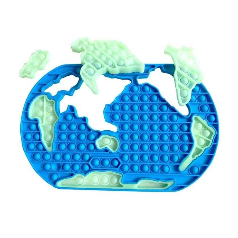 30cm Gigante Grande Sensory Pop Pop Bubbles Popper Brinquedos Jumbo Tamanho Grande Mapa Do Mapa Do Dedo Puzzle Fulgor No escuro Luminoso Tiktok Fidget Bubbles Board Blocks G770aux