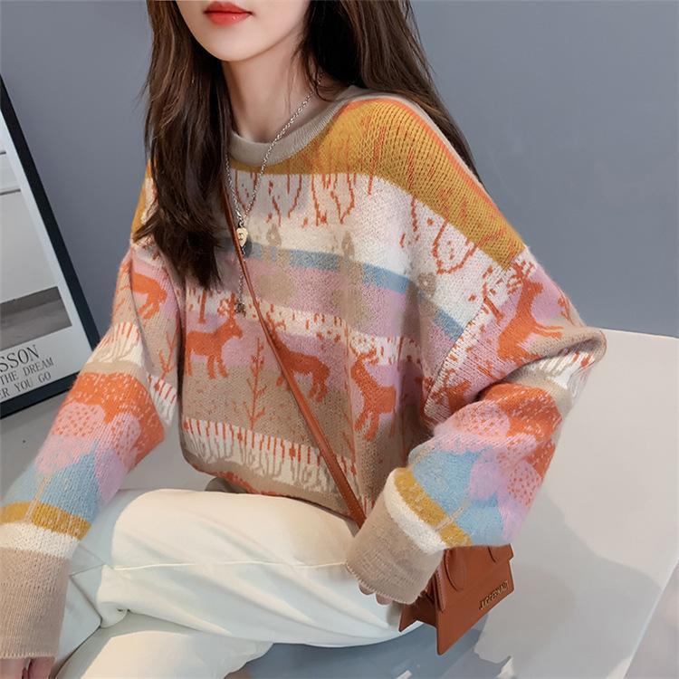 Сладкий пуловер Sweet Strula Strula для женщин осенью и зимой