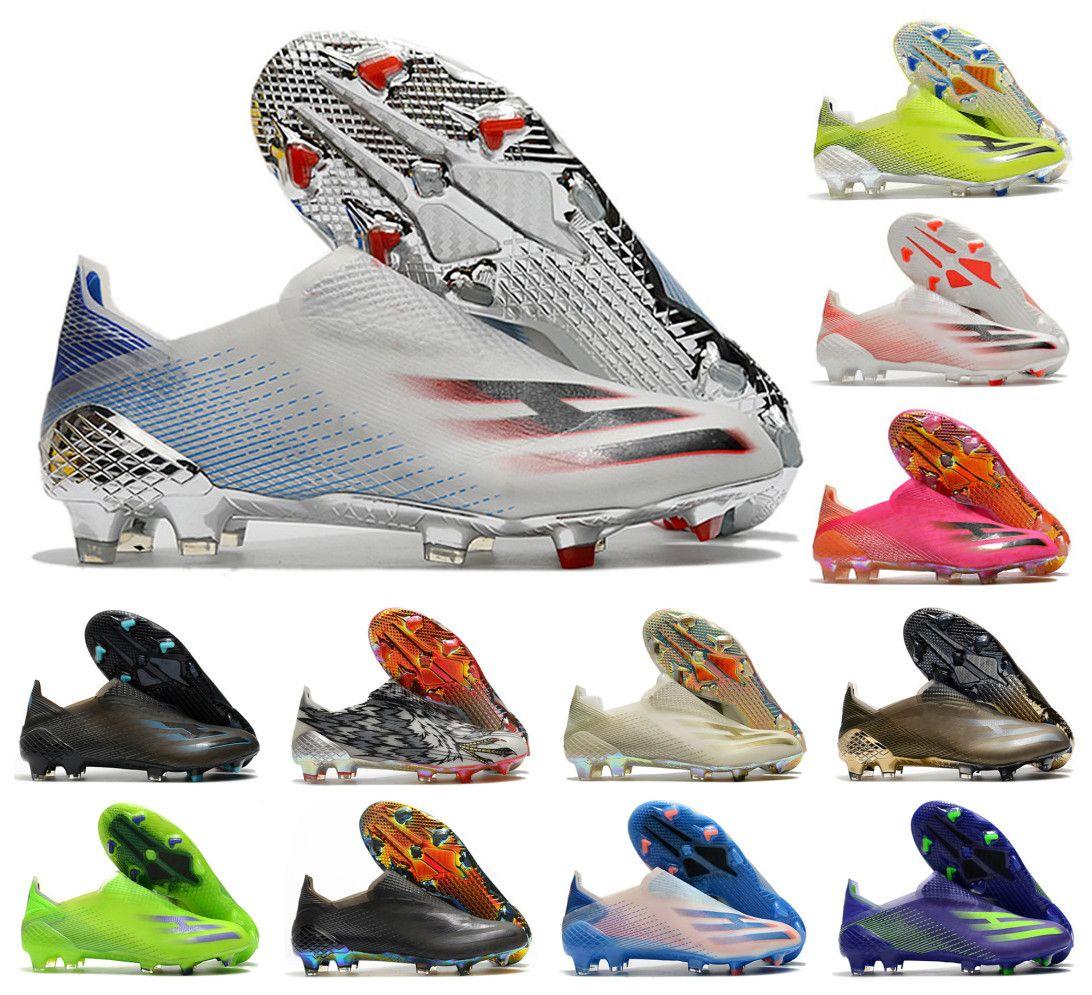 2021 x ghosted fg soccer أحذية showpiece الدقة إلى طمس رجل الانزلاق على كرة القدم 20 + x الأحذية المرابط حجم US6.5-11