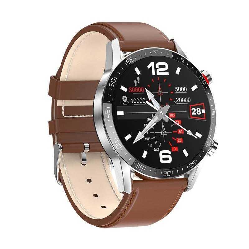 L13 Smartwatch Männer EKG + PPG Wasserdichte Bluetooth-Anruf Blutdruck Mode Armbänder Armband Fitness Smart Watch PK L8 L7 50 210603