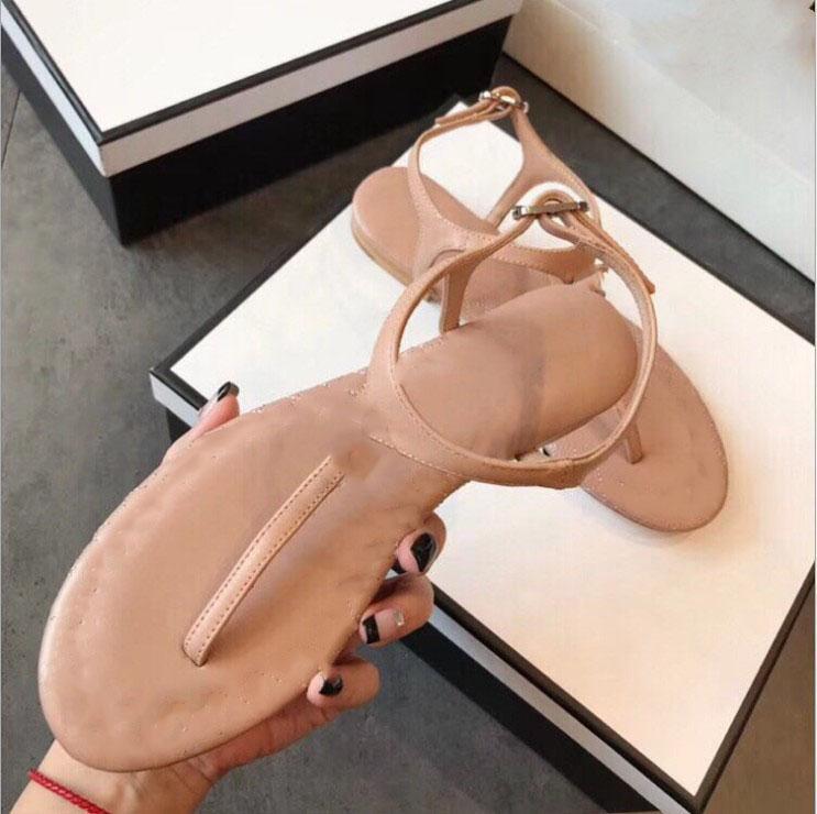 2021 mujeres sandalias casuales mocasines zapatos planos flip-flops lujoso 35-40