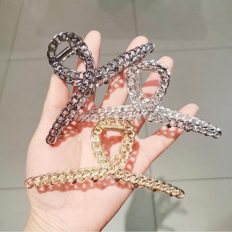 Ins korea einfache stil große haarklauen metall clipper nehmen bading mädchen kinder zubehör