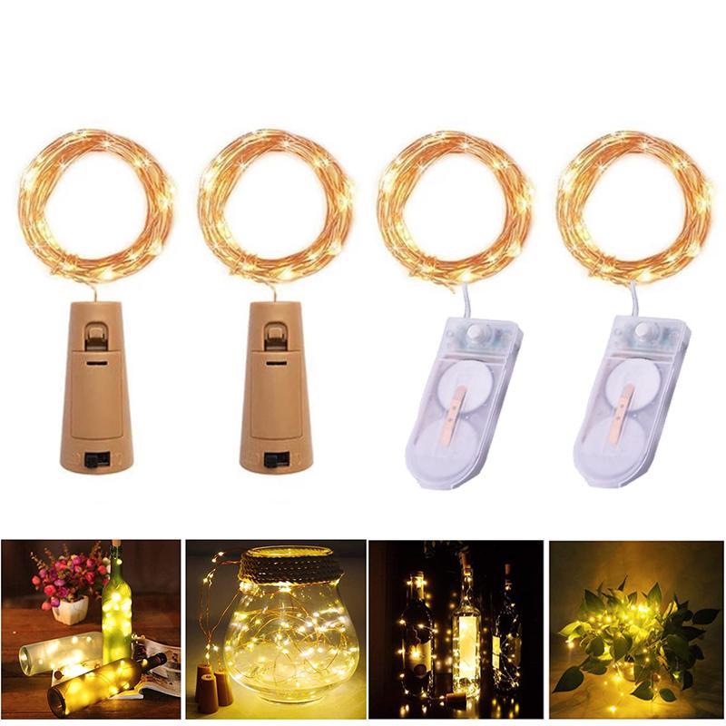 LED 문자열 빛 방수 구리 미니 요정 DIY 유리 공예 병 조명 크리스마스 램프 2m 20leds