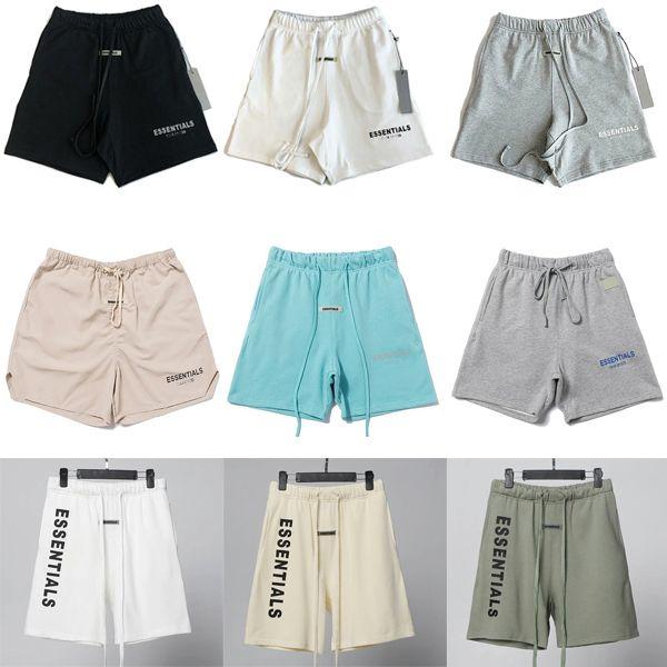 2020с Страх Божьей мужской шорты Брюки повседневные предметы тест на бумажные брюки с сыпучими петельми и хип-хоп туман женские летние светоотражающие