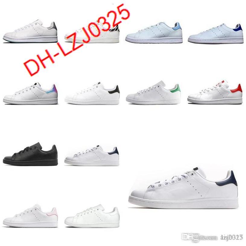 Botas Mujeres Hombres Moda Zapato Stan Smith Sneakers Cuero Classic Flats Zapatos Casuales Tamaño US 5-10 DH-X27