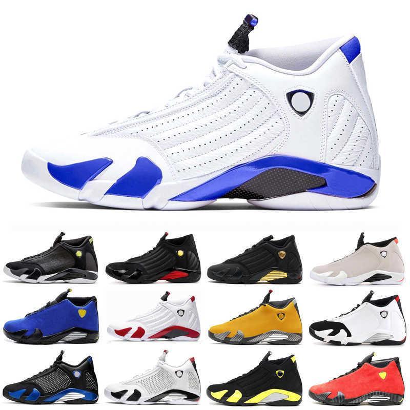 İndirim Hyper Kraliyet 14 14s Erkekler Basketbol Ayakkabı Üniversitesi Kırmızı Şeker Kamışı Siyah Ayak Erkek Yeni Spor ayakkabı Sneakers Trainer 7-13