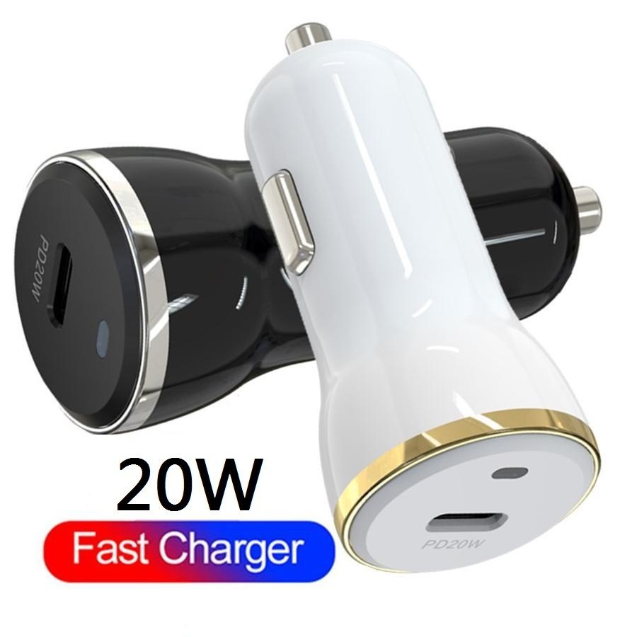 20W 유형 C PD Fast Quick Car Charger iPhone 용 Samsung Huawei GPS Android 휴대 전화 용