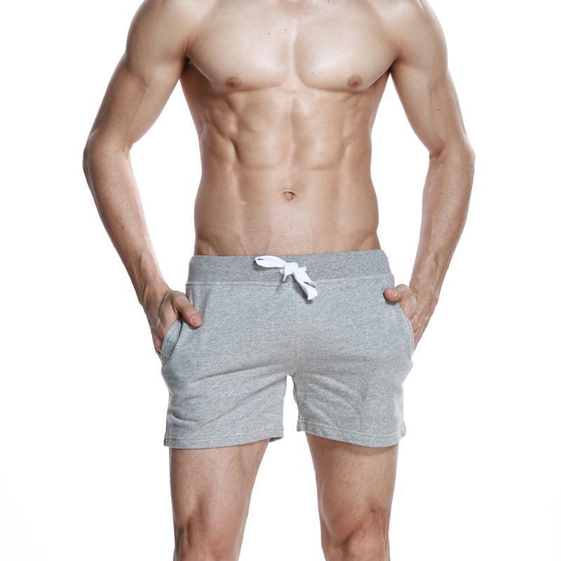 Erkek Şort Seobean Moda Sadelik Katı Renk Pamuk Spor Koşu Rahat Yaz Ev