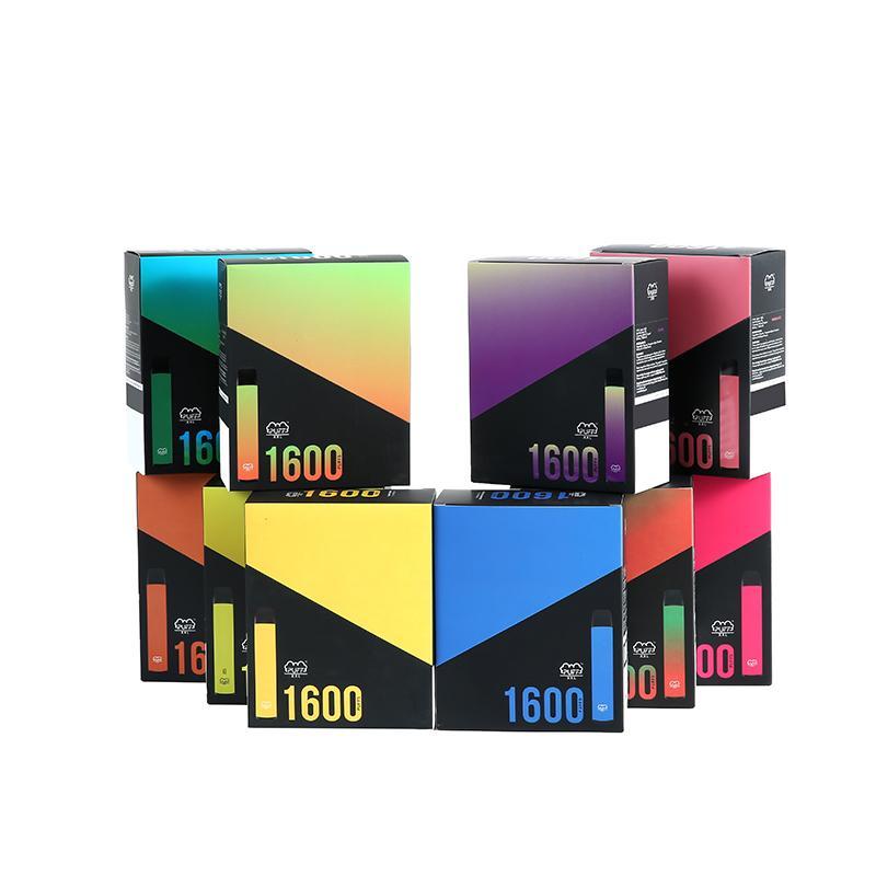 Yeni Puf XXL Tek Kullanımlık Vape 1600Puffs Etkili Çizik Tek Kullanımlık Kalem Cihazı Başlangıç Kiti Tek Kullanımlık Ekipmanları Seti