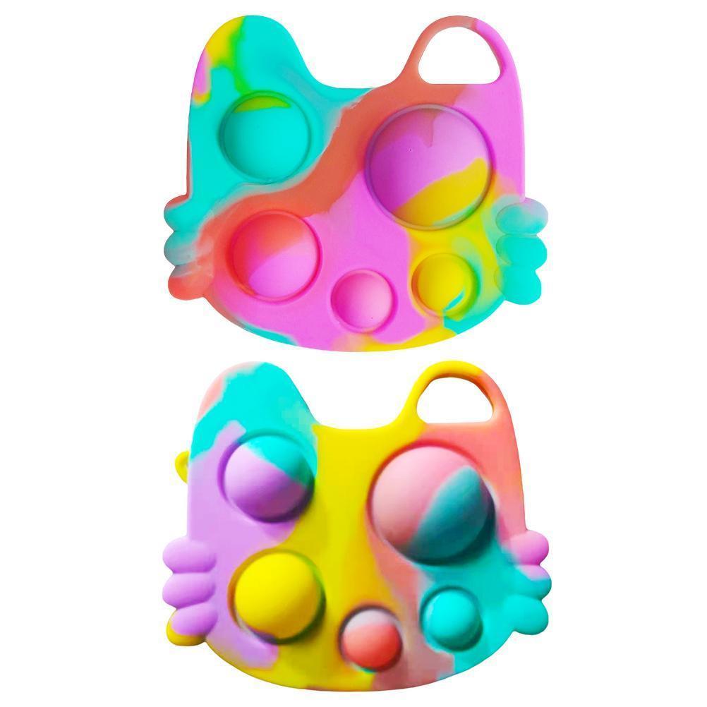 2021 푸시 버블 팝업 자폐증 새로운 FIDGET 장난감 특수 필요 스트레스 릴리버가 스트레스를 해제하고 초점을 증가시키는 데 도움이됩니다. 부드러운 DHL