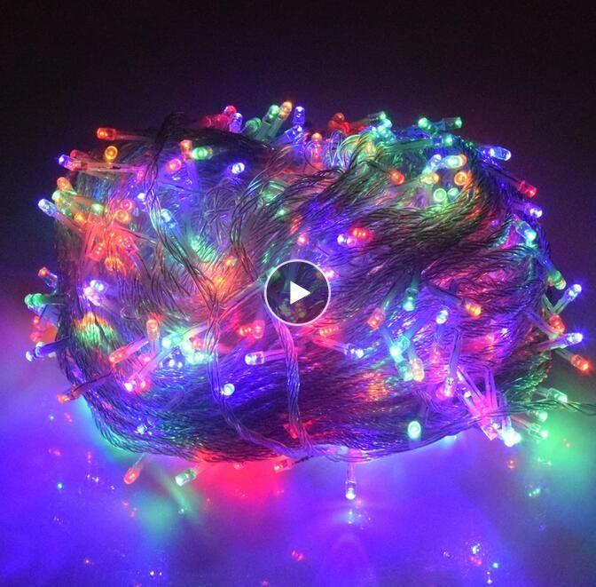 Светодиодные сказочные светильники огни праздника рождественские огни на открытом воздухе 100 м 50 м 30 м светодиодные светильники украшения для вечеринок праздник свадьба гирлянда