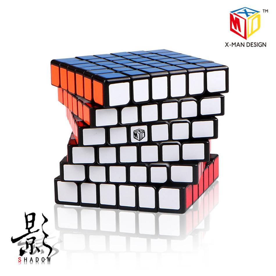 تشية الظل المغناطيسي 6x6 ماجيك مكعب X-man تصميم qiyi 6x6x6 سرعة المغناطيسي مكعب الظل m 6layer cubo magico المغناطيسي التعليمية
