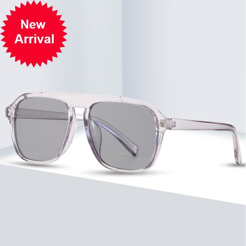 Квадратные Солнцезащитные очки Женщины Мода 2021 Новые Старинные оттенки Мужчины Бренд Дизайн Роскошные Большие Солнцезащитные Очки UV400 Негабаритные Forwomen {Категория} SDFI