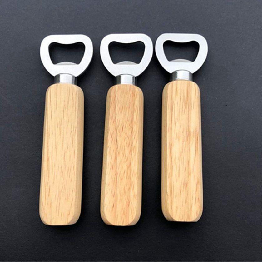 Apribottiglie Maniglia in legno Apriscatoli Portatile Birra Apri Birra Bar Cucina Partito Strumenti Birra Bottiglia BOTTIGLIA Apriscatole Apri Bottiglia di vino Cyz3063 Mare Spedizione
