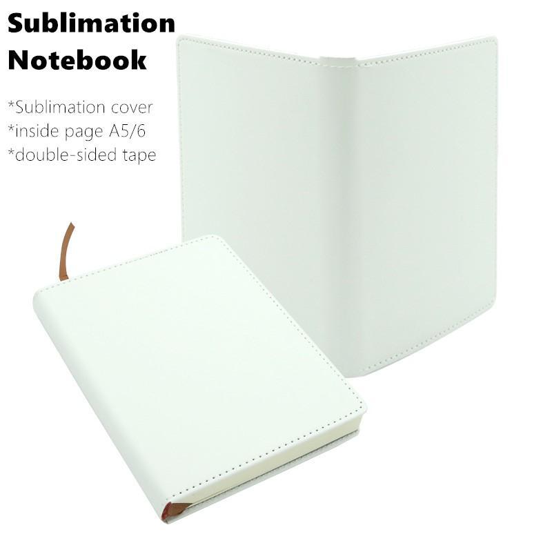 Notes de sublimation Notepades Blank Faux Coat Coverbook avec intérieure Page A5 A6 Calendrier quotidien Mémo Sketchbook Home School Office Fournitures Cadeaux