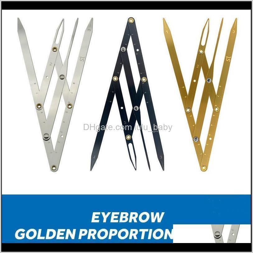 다른 문신 용품 스테인레스 스틸 비율 마이크로 블레이드 영구 메이크업 측정 도구 평균 황금 눈썹 분배기 Ehjhq ablce