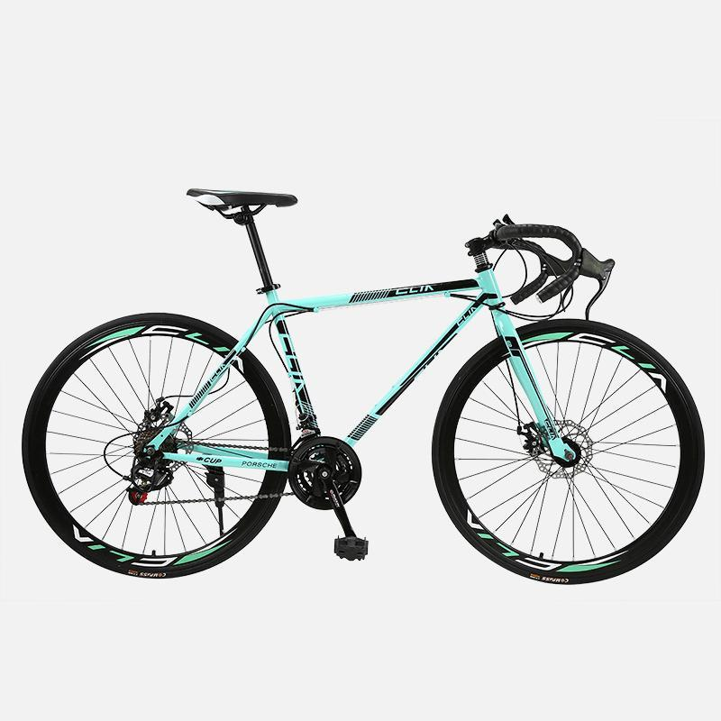 Дорожный велосипед с фиксированной передачей велосипед 26 дюймов 40 нож 21 скорость сдвига изгиба мужчины и женские студенты взрослые велосипеды
