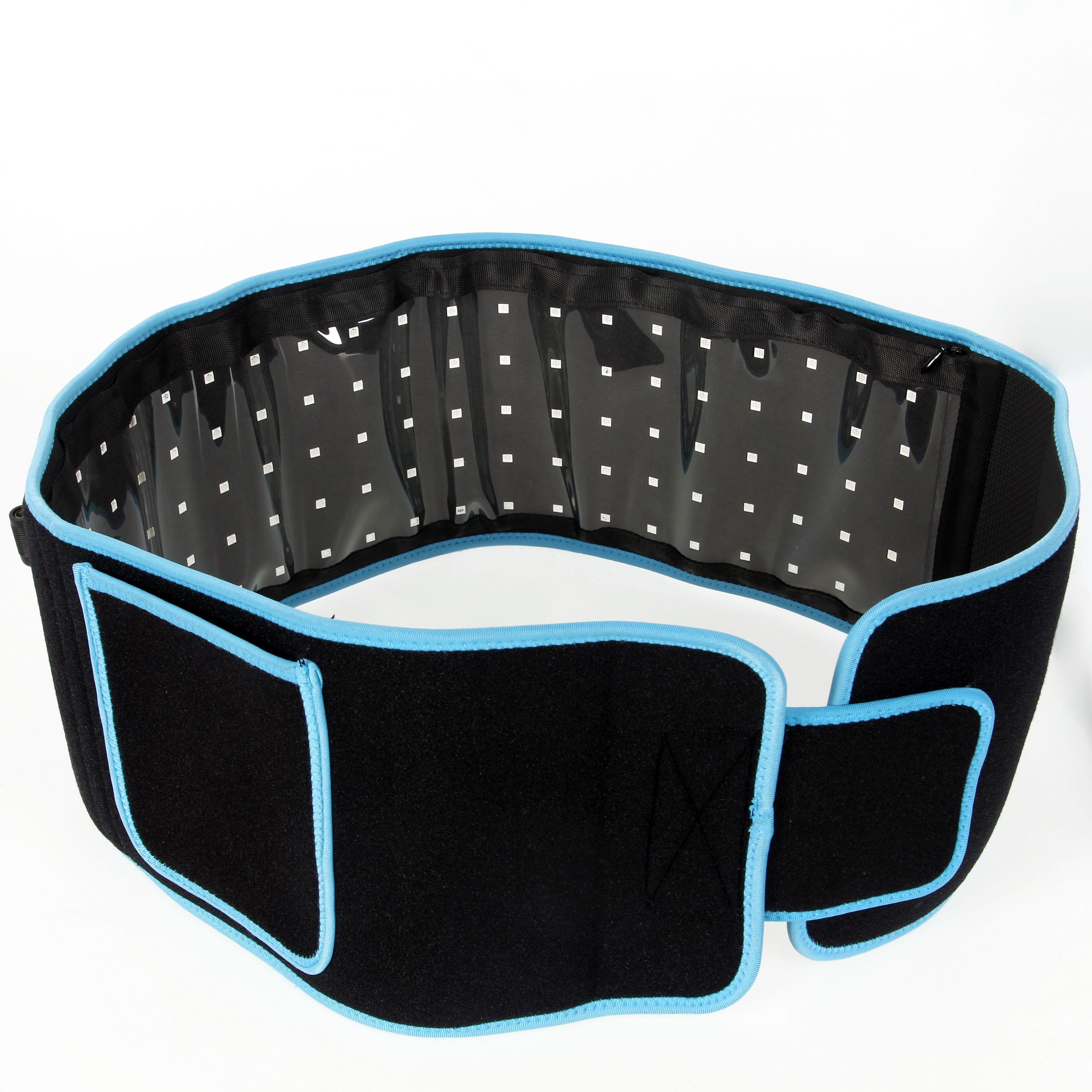 휴대용 LED 슬리밍 허리 벨트 통증 완화 붉은 빛 적외선 물리 치료 벨트 LLLT 지방 분해 바디 성형 조각 660nm 850nm lipo 레이저