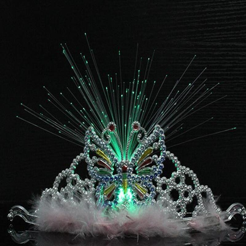 Party Decoration 15pcs Women LED Flashing Crown Headband Light Kids Girls Glow Head Wear Home Decor Birthday