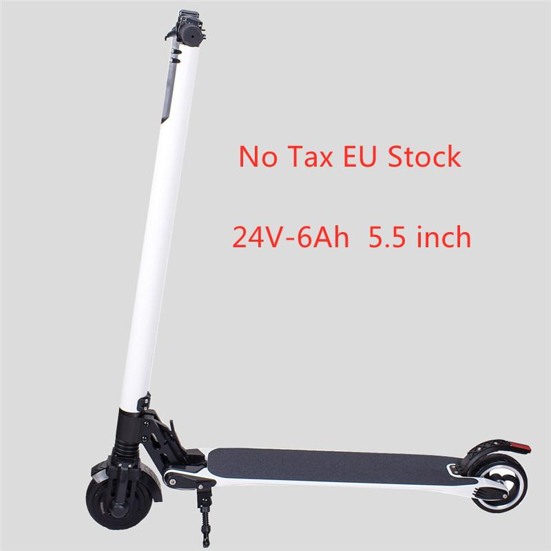 Nessuna azione UE Tax! Smart Scooter Pieghevole Skateboard Electric Skateboard Max Velocità 23km / H 24V-6Ah 5,5 pollici Controllo app H1