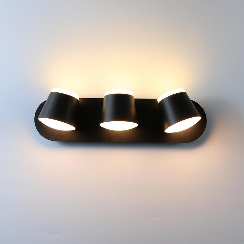 통로 실내 벽 빛 360도 조정 가능한 8W 16W 24W led 램프 sconce 거실 엘 침실 조명