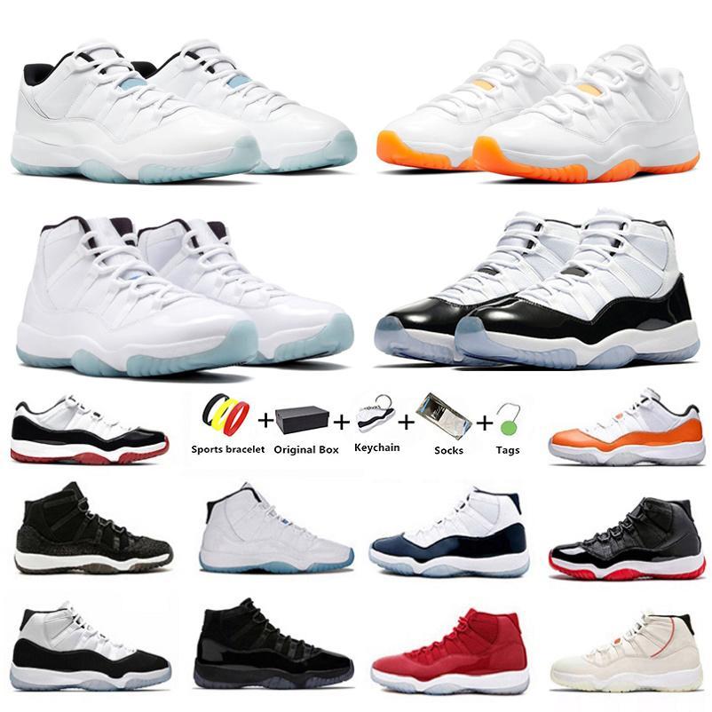 Jumpman Citrus 11 легенда гамма синие мужские баскетбольные туфли 25-й годовщины юбилей выведенный с низкой крышкой CALL CONCORD 11S мужчин женщин тренеров спортивные кроссовки с коробкой