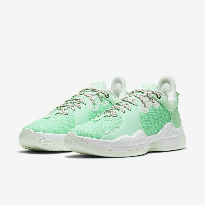 2021 pg 5 ep v الأخضر بول جورج أحذية كرة السلة أحذية رياضية pg5 في الهواء الطلق مع مربع حجم 40-46