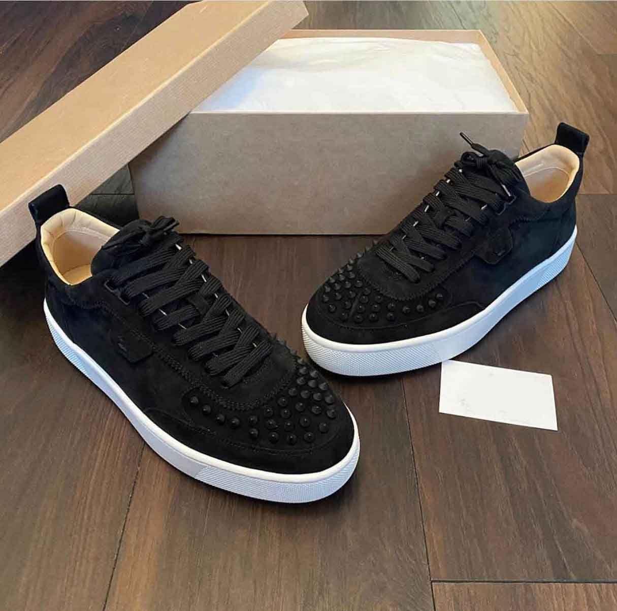 Mükemmel Markalar HappyRui Kırmızı Alt Sneakers Ayakkabı erkek Rahat Yürüyüş Tasarımcısı Platfrom Lesure Lüks Traniner Parti Düğün AB35-47, Kutusu Ile