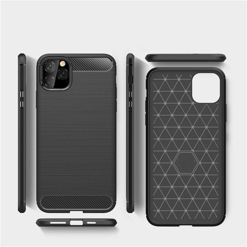 Чехол из углеродного волокна для iPhone 11 12 Pro Mini X XR XS MAX 6 6S 7 Phone Cover Samsung S21 S20 Ультра S10 S9 S8 Plus Примечание 20 10 9 8