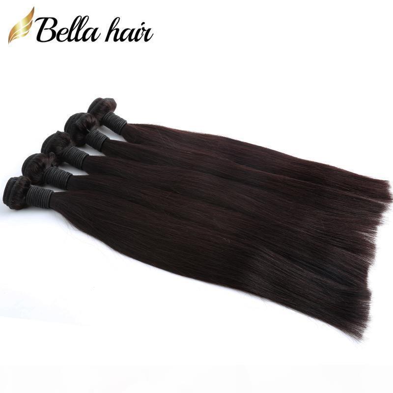 """8 """"-30"""" 5pcs Indian Virgin Hair Hair Capelli di capelli Natural Color Weave Dritto Capelli Estensioni Doppia trama all'ingrosso Bellahair"""