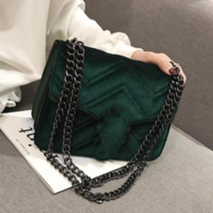 2021 saco de designer inverno bloqueio veludo clássico linha ondulada mulher ondulada cadeia elegante temperamento pequeno