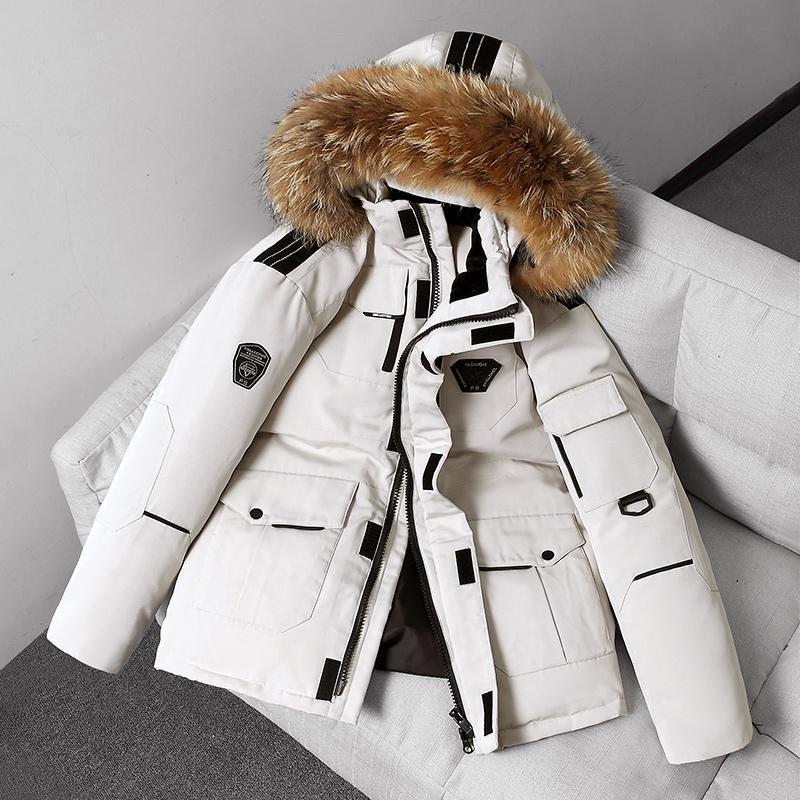 겨울 캐주얼 화이트 오리 아래로 러닝 남자 따뜻한 긴 두꺼운 파카 재킷 코트 남자 outwear 후드 포켓 방수 재킷 남자