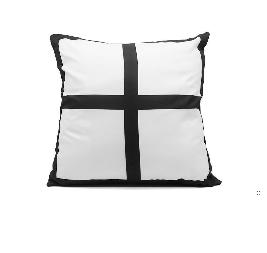 Transferência de calor sublimação em branco pillowcase quadrado 4 bloco DIY impressão foto descanso almofada capa de casamento decoração de aniversário almofadas OWE6085