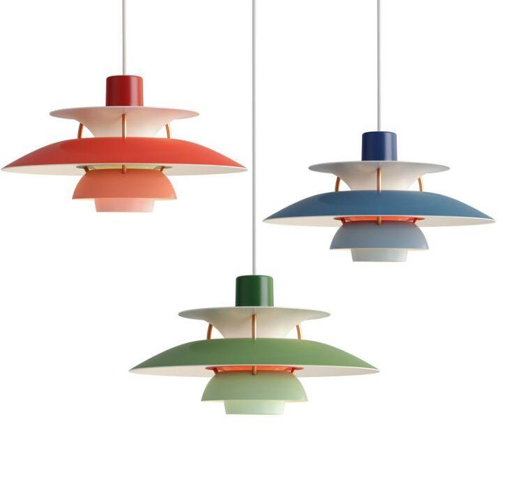 Denmark Ph5 E27 Pendant Light Lamps Colorful Umbrella Chandelier for Living Room Kitchen Dining Restaurant Lighting Fixtures