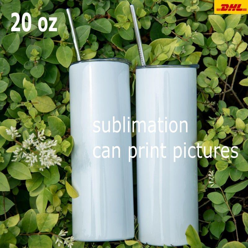 Billigaste 20oz avsmalnande och rak sublimering Tumbler 20 oz Rostfritt stål Blank Tall cylindervattenflaska med metallstråle