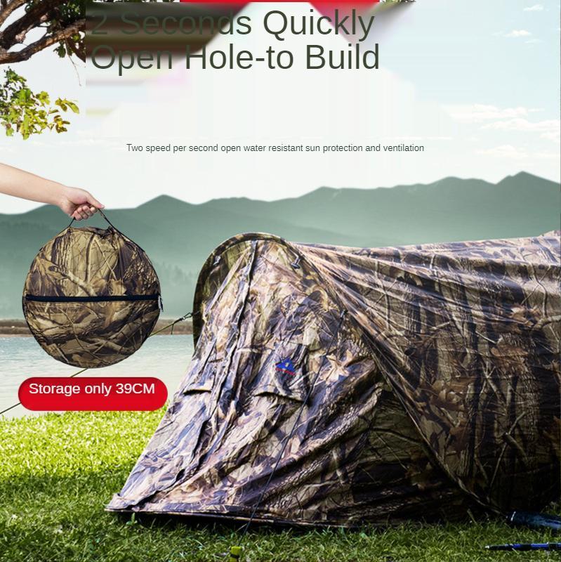 Outdoor Freizeit Camping Single Automatic Speed Open Free Camouflage Zelt Strand Wetterfeste Persönliche Zelte und Unterkünfte