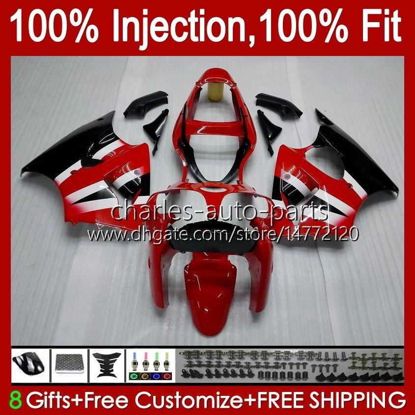 OEM Body For KAWASAKI NINJA ZX 636 600CC ZX-600 blk ZX-6R red factory ZX636 ZX6R 00 01 02 37HC.21 ZX 600 CC 6 R ZX 6R ZX600 Cowling ZX-636 2000 2001 2002 Injection Mold Fairing