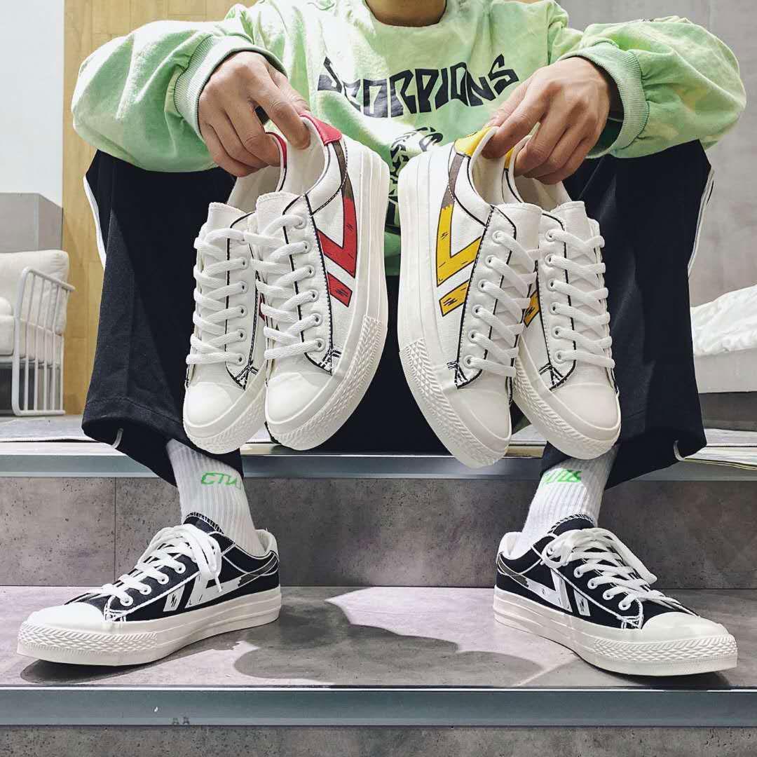 Huilli قماش الصيف عارضة الأحذية طالب 1990 الشباب مسطحة أسفل الرياضة الرجال والنساء الكلاسيكية مريحة الأزياء شريطية حجم القماش صغير 35-44