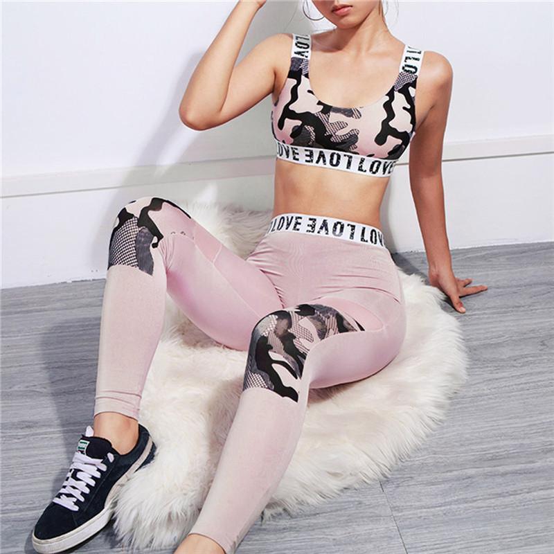 Vestito da due pezzi Moda donna gilet da donna senza maniche stampa pantaloni da fondo tuta stampata sudore set u3
