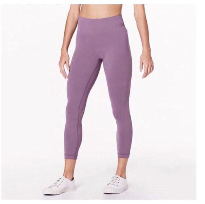Подсылки твердого цвета женские йоги брюки с высокой талией спортивный тренажерный зал носить леггинсы упругие фитнес леди общие полные колготки Размер тренировки XS-XL (007