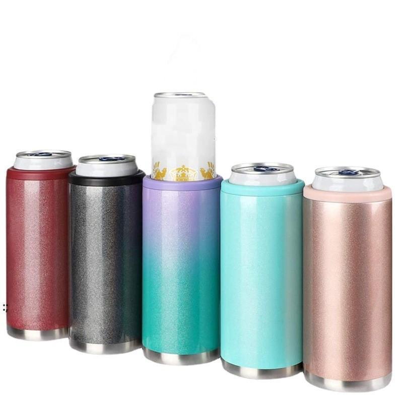 Peut-on refroidir une tasse de refroidisseur pour 12 oz Slim Slim Seltzer Seltzer Boissons à double paroi Tasse isolée à double paroi en acier inoxydable OWD8775