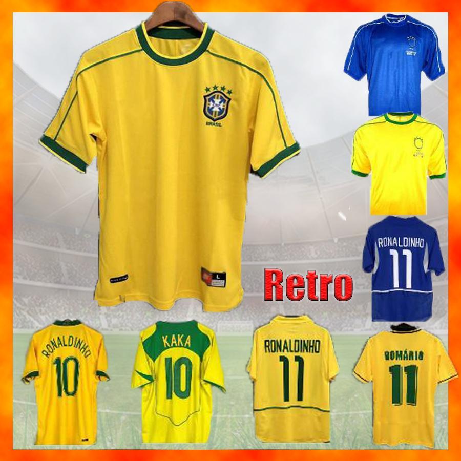 الرجعية البرازيل كرة القدم الفانيلة أعلى جودة 1994 1988 1998 2000 2002 2004 2004 2004 2012 Romario Ronaldinho Rivaldo Kaka 94 98 00 02 06 كرة القدم قميص
