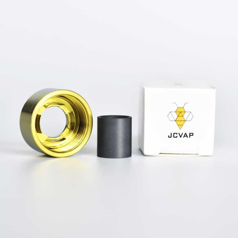 JCVAP GR2 Cappellino del coperchio in titanio e inserto SIC E-Rig Accessori per Messa a fuoco V Carta Atomizzatore Smart Oil Stal con 5 colori Nessun fuso di plastica