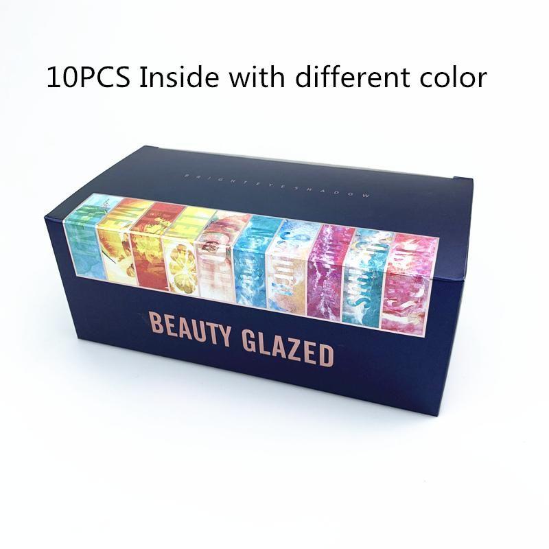 Caixa de presente de cosméticos 10 em 1 conjunto 9 cor paleta de maquiagem de paleta de sombra sombra fosca