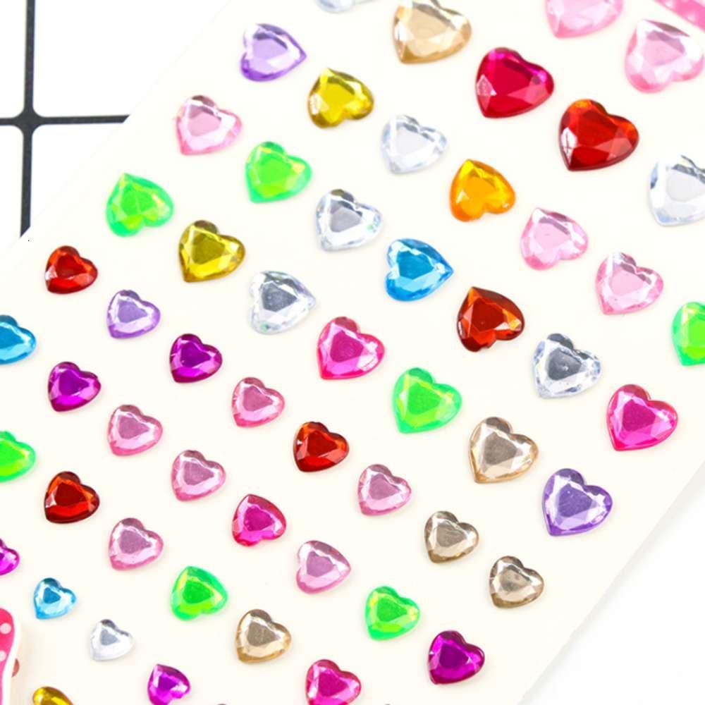 Harms Liebe Herz Kristall Diamant Aufkleber Kawaii DIY Mobiltelefondekor Notebooks Zubehör Lieferung Kind Brief Papier