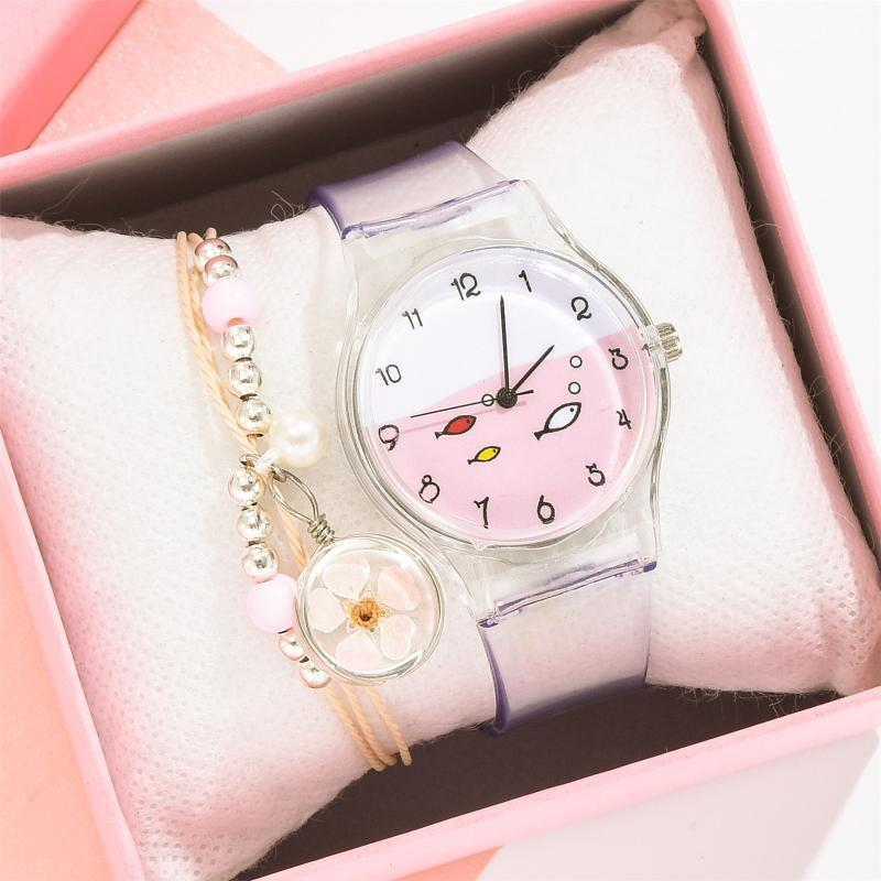 Montres Montres Montres Women's Watch Bracelet Montres pour Femmes Étudiante Mignon Bijoux Jojouté Quartz Rose Dial Cuarzo Rosa Reloj Para Mujeres W3