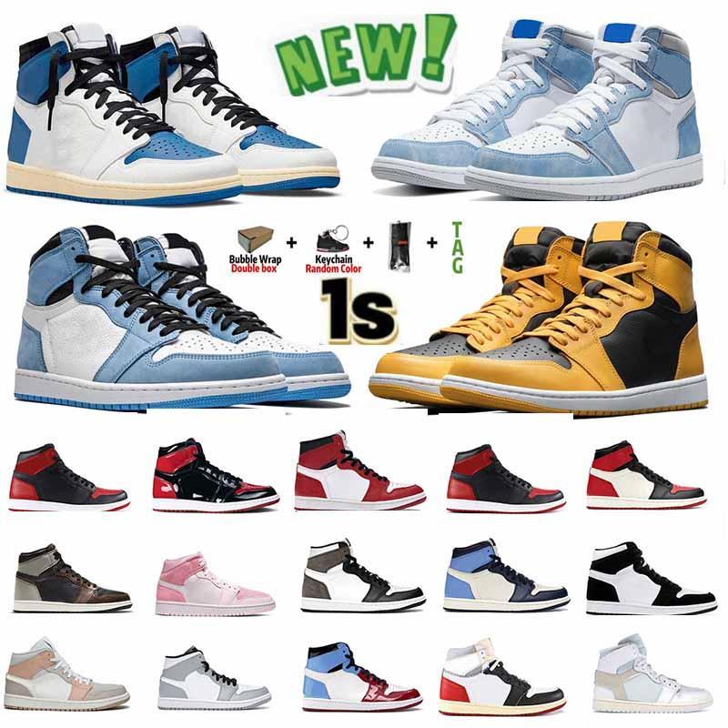 [Promosyon kodu OCTEU 06] Nike Air jordan 1 Jumpman 1 1s Erkek Basketbol Ayakkabıları Üniversite Mavi UNC Hyper Royal 4 4s Sail Lightning Siyah Kedi Ateş Kırmızısı KadınEğitmenler