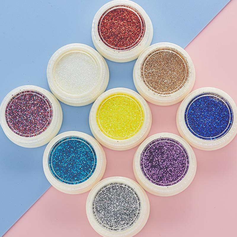 Tırnak Glitter Ayna Metalik Renk Akrilik Toz Sanatı UV Jel Parlatma Krom Gevreği Toz Dekorasyon Manikür Malzemeleri