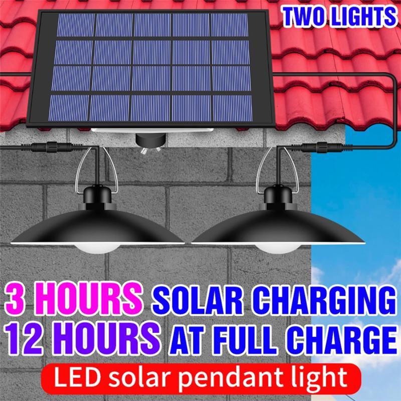 Lámpara solar LED 15W 20W Luz de potencia impermeable a prueba de agua Bombilla de campamento al aire libre Luces de jardín Lámparas de araña portátiles 5V